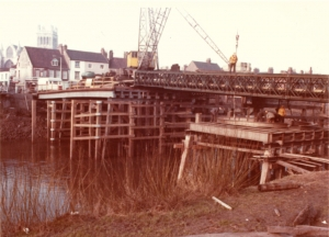 Unearthed photo shows Selby's familiar Toll Bridge under construction