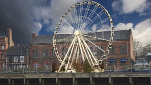 Artists' impression of Selby's big wheel attraction