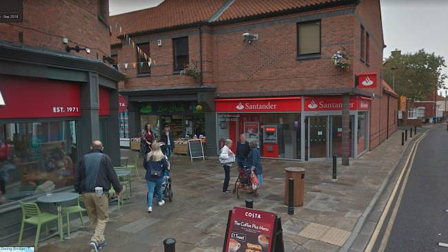 Selby branch among Santander closures