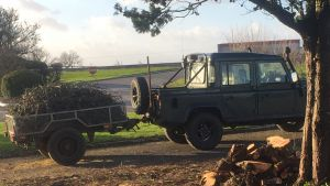 Ex-military trailed stolen from outside hotel in South Milford