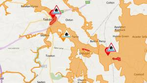 Flood warnings issued in parts of Selby district