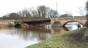 Tadcaster bridge collapse could leave community divided for whole year (Photo credit: Rob Whiteley)