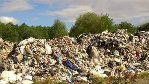 Illegal waste piled high at former Selby mushroom farm.