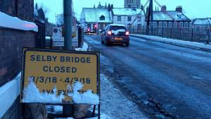 Bridge work postponed as cold snap continues