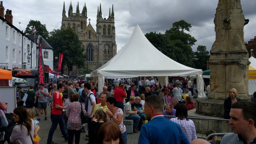 Bumper turnout for Selby's foodie heaven