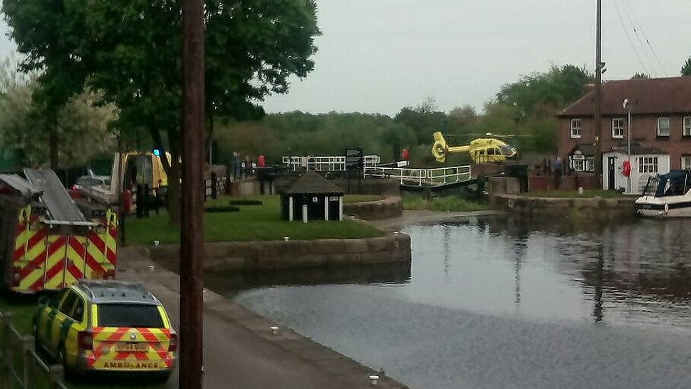 Air ambulance responds to Selby Canal 'incident'