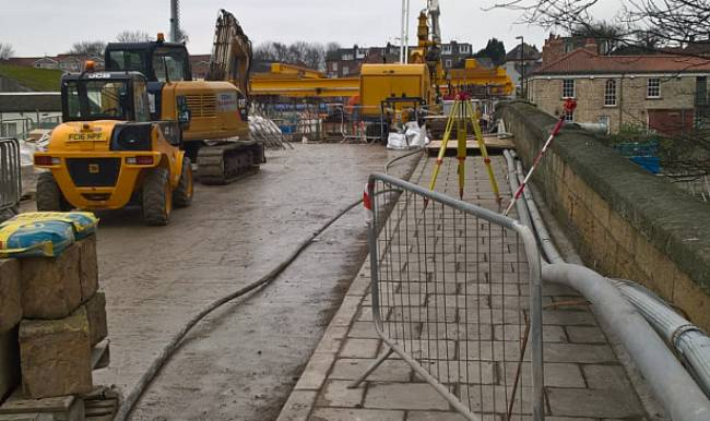 Tadcaster bridge works progress as target looms